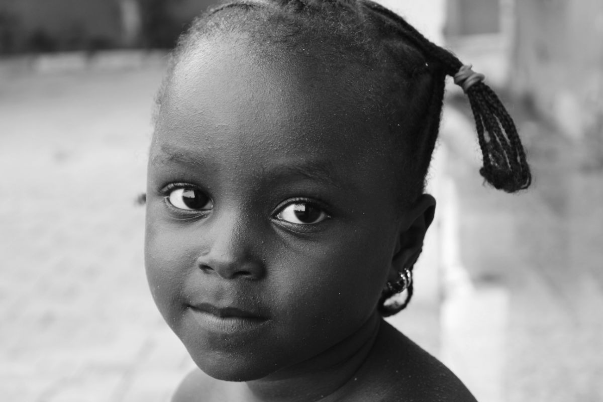 Illustration photo of little, african girl