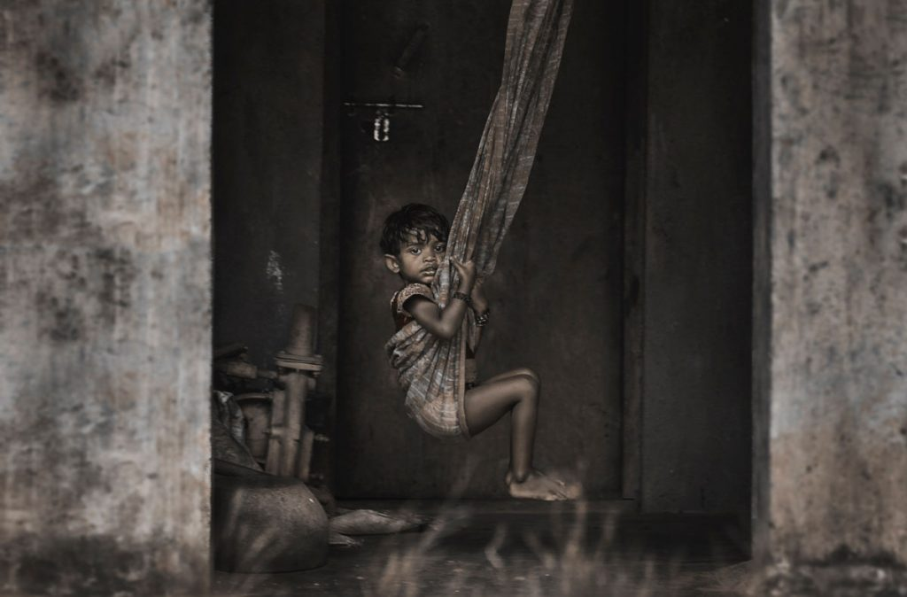 Illustration photo. Child in poverty
