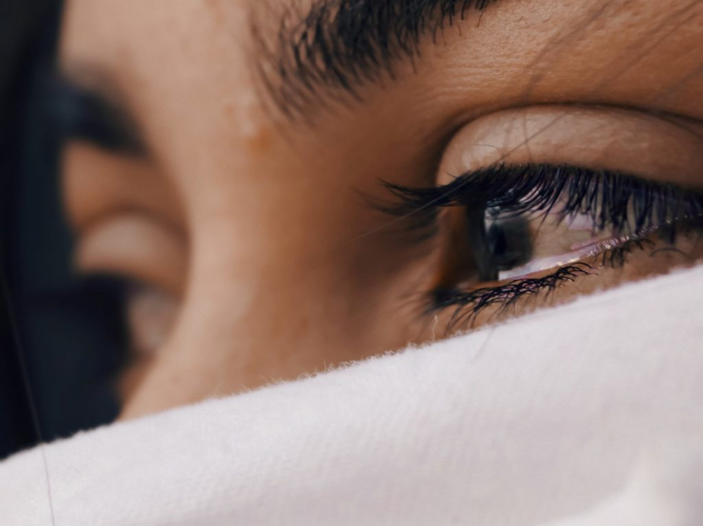 Close up womans eyes